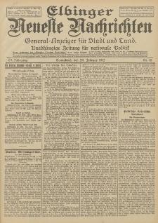 Elbinger Neueste Nachrichten, Nr. 46 Sonnabend 24 Februar 1912 64. Jahrgang