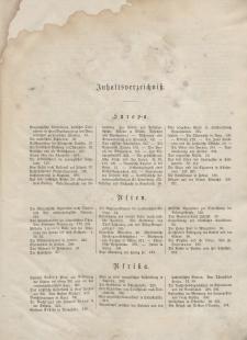 Globus. Illustrierte Zeitschrift für Länder...(Inhaltsverzeichniß), Bd. XV, 1869