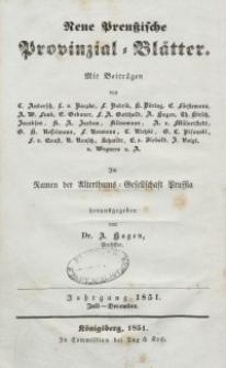 Neue Preussische Provinzial-Blätter, Bd. XII, Jahrgang – Juli - Dezember, 1851