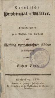 Preussische Provinzial-Blätter, Bd. XI, 1834