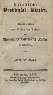 Preussische Provinzial-Blätter, Bd. XII, 1834
