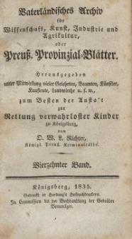 Preussische Provinzial-Blätter, Bd. XIV, 1835