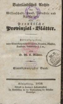 Preussische Provinzial-Blätter, Bd. XXI, 1839