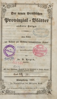 Neue Preussische Provinzial-Blätter, Bd. XII, 1857