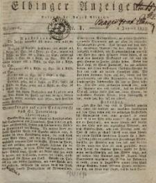 Elbinger Anzeigen, Nr. 1. Mittwoch, 4. Januar 1832