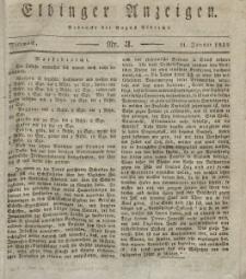 Elbinger Anzeigen, Nr. 3. Mittwoch, 11. Januar 1832