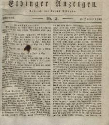 Elbinger Anzeigen, Nr. 5. Mittwoch, 18. Januar 1832