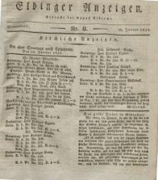 Elbinger Anzeigen, Nr. 8. Sonnabend, 28. Januar 1832