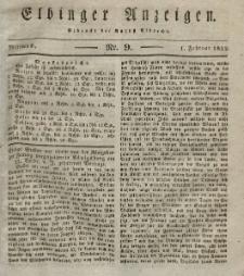 Elbinger Anzeigen, Nr. 9. Mittwoch, 1. Februar 1832
