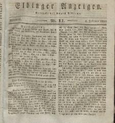 Elbinger Anzeigen, Nr. 11. Mittwoch, 8. Februar 1832