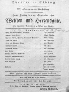 Weltton und Herzensgüte - Friedrich Wilhelm Ziegler