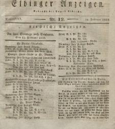 Elbinger Anzeigen, Nr. 12. Sonnabend, 11. Februar 1832