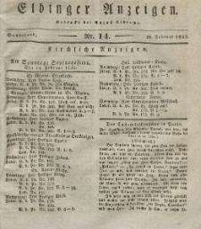 Elbinger Anzeigen, Nr. 14. Sonnabend, 18. Februar 1832