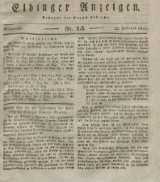 Elbinger Anzeigen, Nr. 15. Mittwoch, 22. Februar 1832
