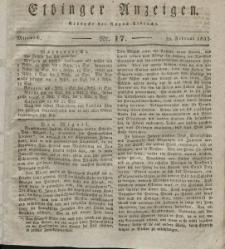 Elbinger Anzeigen, Nr. 17. Mittwoch, 29. Februar 1832