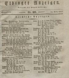 Elbinger Anzeigen, Nr. 20. Sonnabend, 10. März 1832