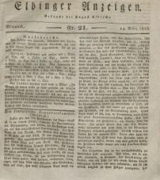 Elbinger Anzeigen, Nr. 21. Mittwoch, 14. März 1832