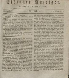 Elbinger Anzeigen, Nr. 23. Mittwoch, 21. März 1832