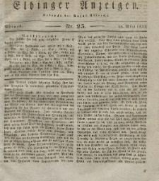 Elbinger Anzeigen, Nr. 25. Mittwoch, 28. März 1832