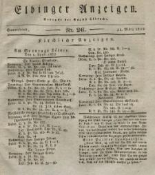Elbinger Anzeigen, Nr. 26. Sonnabend, 31. März 1832