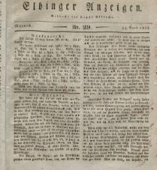 Elbinger Anzeigen, Nr. 29. Mittwoch, 11. April 1832
