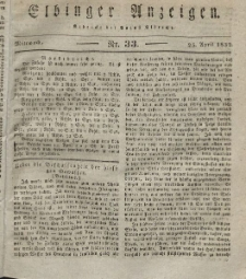 Elbinger Anzeigen, Nr. 33. Mittwoch, 25. April 1832