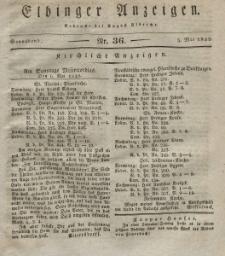 Elbinger Anzeigen, Nr. 36. Sonnabend, 5. Mai 1832