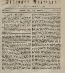 Elbinger Anzeigen, Nr. 37. Mittwoch, 9. Mai 1832