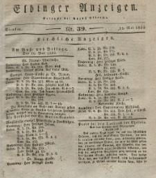 Elbinger Anzeigen, Nr. 39. Dienstag, 15. Mai 1832