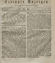 Elbinger Anzeigen, Nr. 41. Mittwoch, 23. Mai 1832