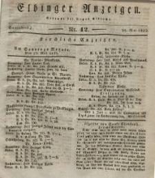 Elbinger Anzeigen, Nr. 42. Sonnabend, 26. Mai 1832