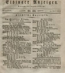 Elbinger Anzeigen, Nr. 44. Sonnabend, 2. Juni 1832
