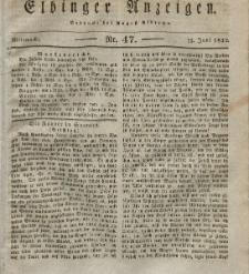 Elbinger Anzeigen, Nr. 47. Mittwoch, 13. Juni 1832