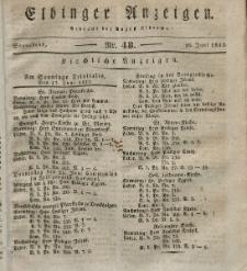 Elbinger Anzeigen, Nr. 48. Sonnabend, 16. Juni 1832