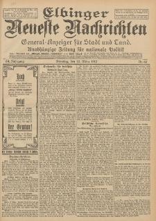 Elbinger Neueste Nachrichten, Nr. 60 Dienstag 12 März 1912 64. Jahrgang