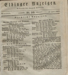 Elbinger Anzeigen, Nr. 52. Sonnabend, 30. Juni 1832