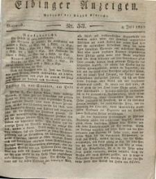 Elbinger Anzeigen, Nr. 53. Mittwoch, 4. Juli 1832