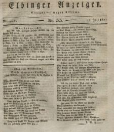 Elbinger Anzeigen, Nr. 55. Mittwoch, 11. Juli 1832