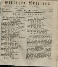 Elbinger Anzeigen, Nr. 56. Sonnabend, 14. Juli 1832