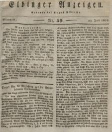 Elbinger Anzeigen, Nr. 59. Mittwoch, 25. Juli 1832