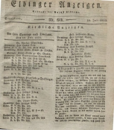 Elbinger Anzeigen, Nr. 60. Sonnabend, 28. Juli 1832