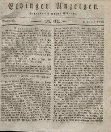 Elbinger Anzeigen, Nr. 61. Mittwoch, 1. August 1832