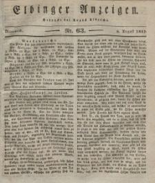 Elbinger Anzeigen, Nr. 63. Mittwoch, 8. August 1832
