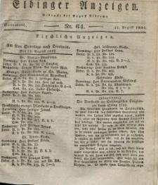 Elbinger Anzeigen, Nr. 64. Sonnabend, 11. August 1832