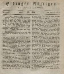 Elbinger Anzeigen, Nr. 65. Mittwoch, 15. August 1832