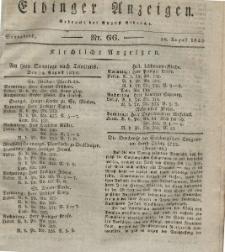 Elbinger Anzeigen, Nr. 66. Sonnabend, 18. August 1832