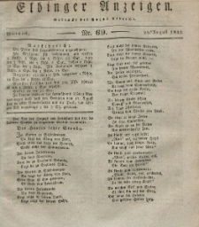 Elbinger Anzeigen, Nr. 69. Mittwoch, 29. August 1832