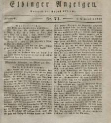 Elbinger Anzeigen, Nr. 71. Mittwoch, 5. September 1832