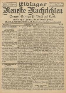 Elbinger Neueste Nachrichten, Nr. 62 Donnerstag 14 März 1912 64. Jahrgang