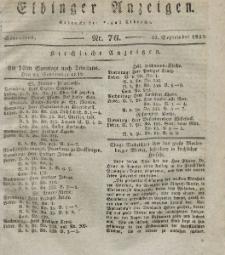 Elbinger Anzeigen, Nr. 76. Sonnabend, 22. September 1832